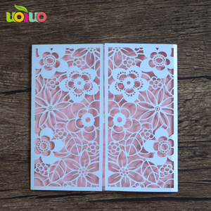 new design paper invitation cards models, Laser cut wedding invitation cards wholesale and retail