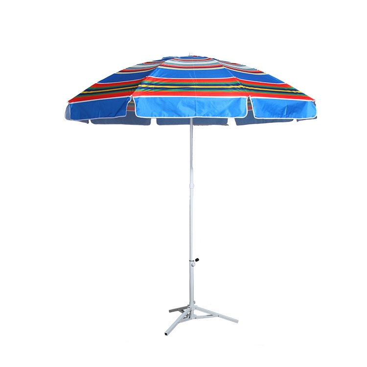 Beach umbrela promotional and cheap price China supplier produced advertising portable light beach umbrella