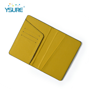 Custom colour high quality genuine leather passport holder case