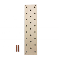 Gym Fitness Equipment Wall Mounted Wooden Climbing Peg Board