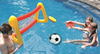 hot sale water sports inflatable football soccer goal post with ring toy