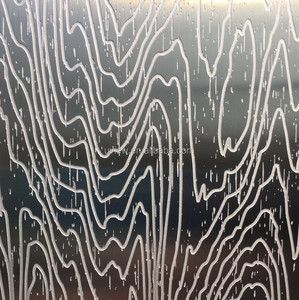 Deep acid etching metal decorative wall covering panels
