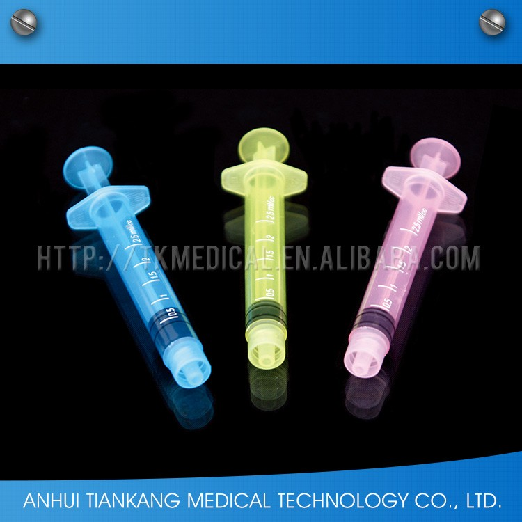 manufacture medical color veterinary plastic syringe