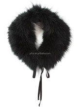 YR926 Factory direct wholesale fur collar/raccoon fur collar/fur shawl collar for coat