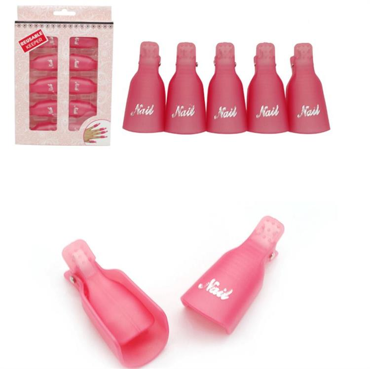 High quality wholesale factory price nail soaker clips for nail gel polish remove and soak off