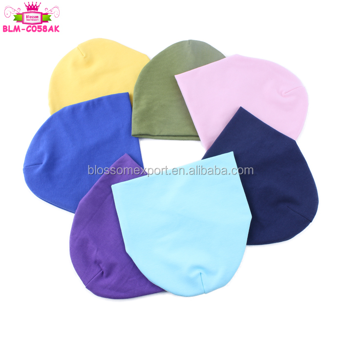 Hot sales! Charming Solid Mix Color cotton wholesale baby hat