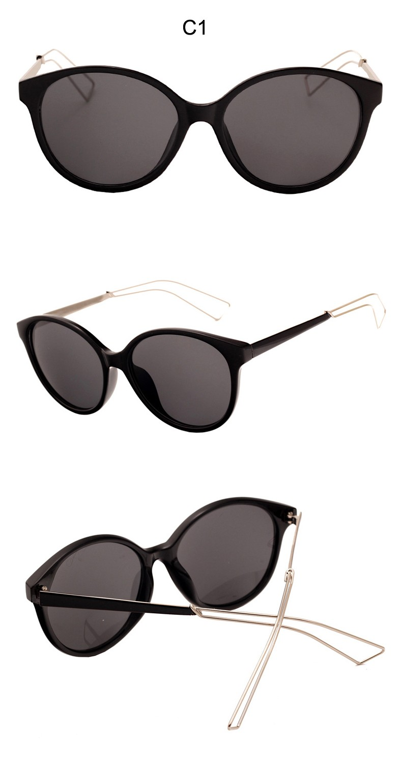 Luxury Brand Women Sunglasses UV400 Retro Cat Eye Sunglasses Female Fashion Designer Sunglasses CC5079