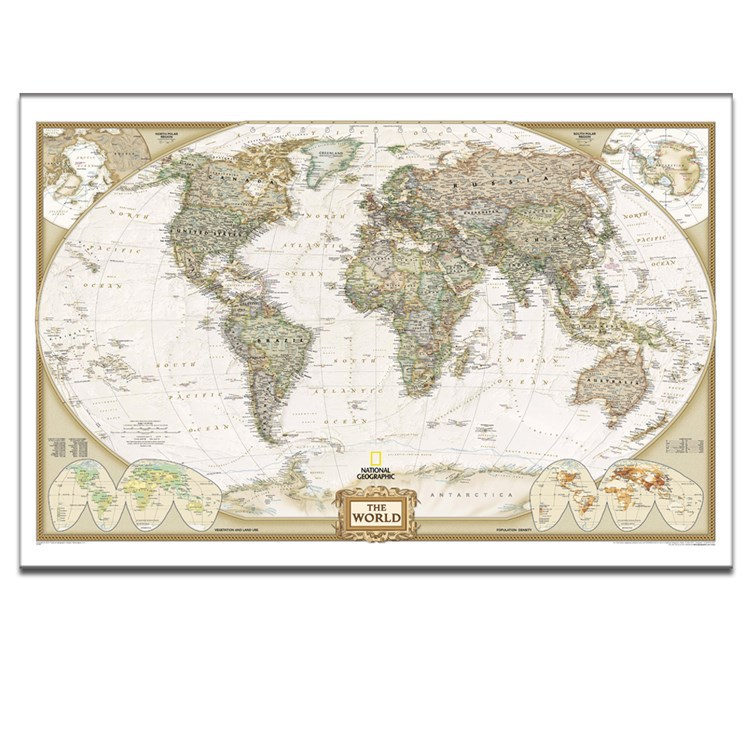 Modern World Map Modern Wall Painting Design On Canvas