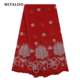 Most popular handmade super quality net lace embroidery with beads party dress lace fabric