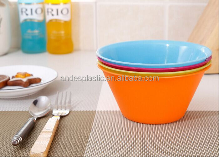 Custom Logo Made In China Plastic Soup/ Fruit/ Salad Bowl