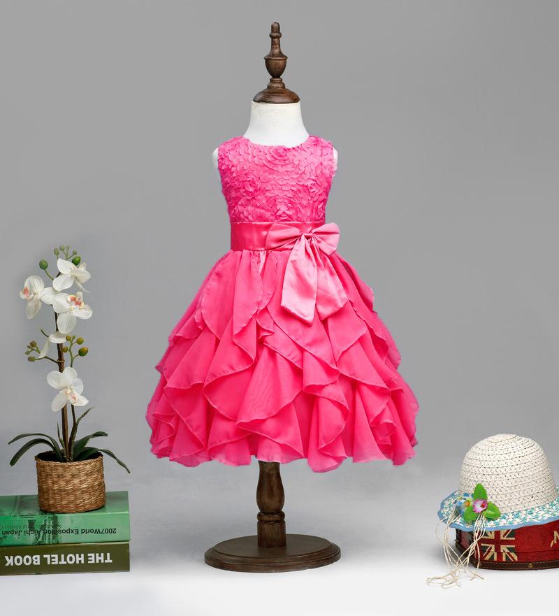 Promoción Pequeña Reina Niña Vestido De Flores, Compras online de ...