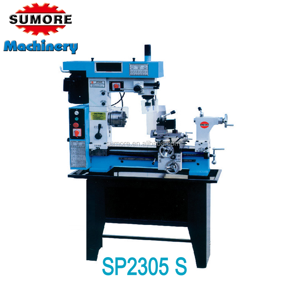 SUMORE!! 3 in 1 lathe machine, lathe drill mill combo HQ500 combo machine SP2305