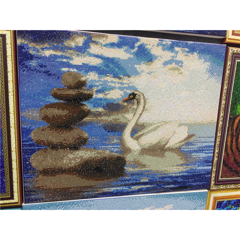 Swan DIY Crystal 5D full plastic diamond painting embroidery machine glue cross stitch kit <strong>art</strong> 3D mosaic square rhinestone