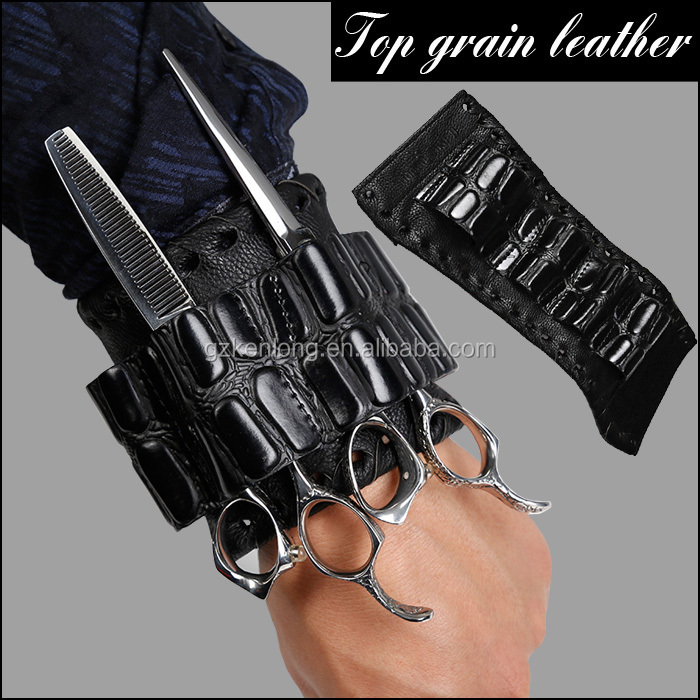 Professional Salon Leather Scissor Pouch For Hairdresser