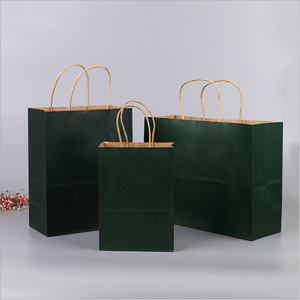 Cheap Candy Color Handbag Recycle Decorative Paper Bag Kraft Paper Coffee Bag Gift Paper Bag
