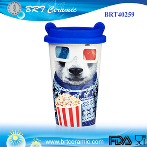 Panda Reusable Ceramic Coffee Cup