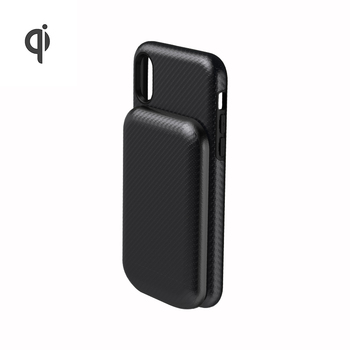 Qi Certified 5W magnetic battery pack mobile phone case 3000mAh wireless power bank for iPhone 8 Plus X XR XS MAX