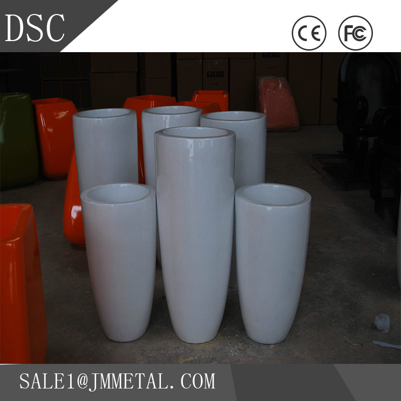 Factory supply mirror finish ceramic clay flower pot