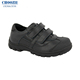 Choozii Black Color Leather Sport Running Shoes Kids for Boys