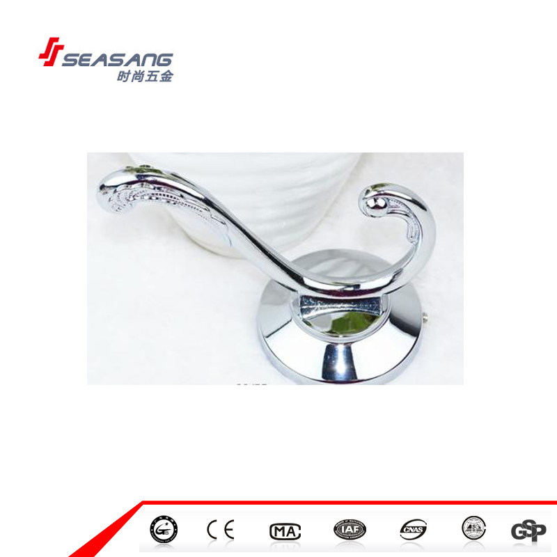 Clothes Metal hook single prong robe hook, coat and hat holder