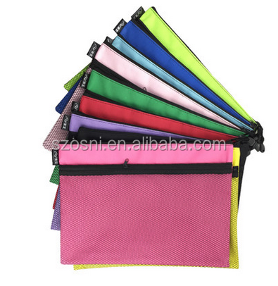 Osni custom document bag A4 waterproof A4 pencil case mesh oxford A4 pencil bag