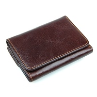 R-8106Q Top 10 Brands Genuine Leather Travel Passport Men's RFID Leather Wallet