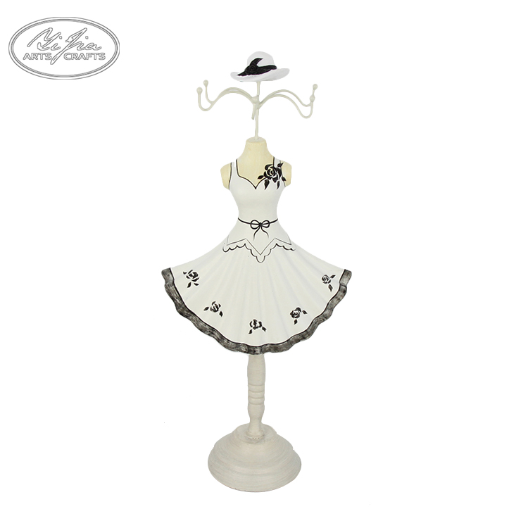 Customized doll shaped jewelry display ring stand ring holder