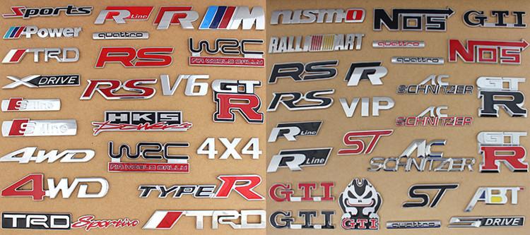 Custom Car LogoDie Casting Abs Car Logos With Names Brand Emblem - Car sign with namescustom car logodie casting abs car logos with names brand emblem