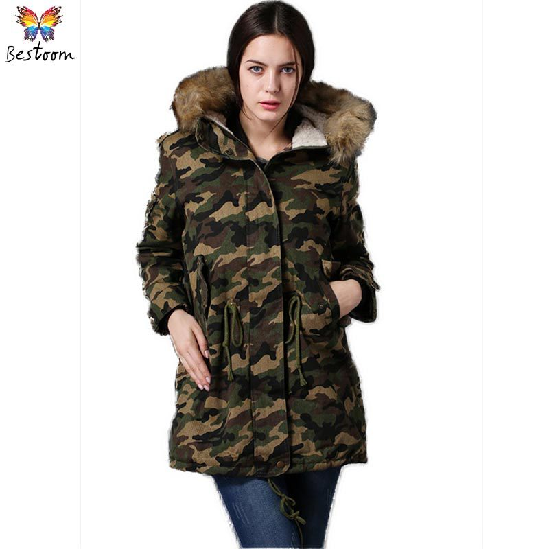49c8ceb8c80fa Get Quotations · Army Green Military European Style Fur Hooded Velvet Jackets  Women 2015 Winter Thickening Wind Forester US