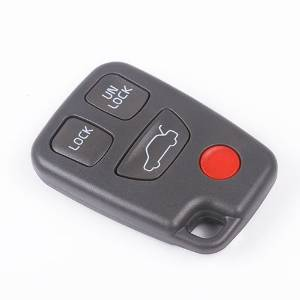ARANA New 4/3 with Panic Button Repair Keyless Remote Key Fob Case Shell for Volvo S40 C70 V70 S70 V40 V90 Base Wagon 4-Door S90