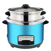 Stainless steel cylinder rice cooker with SS 201 stainless steel inner pot