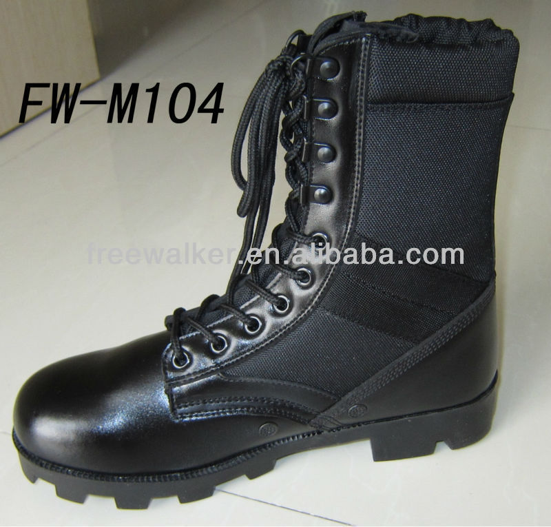 Entry ultra force waterproof leather jungle style ALTAMA black tactical boots 8 inch