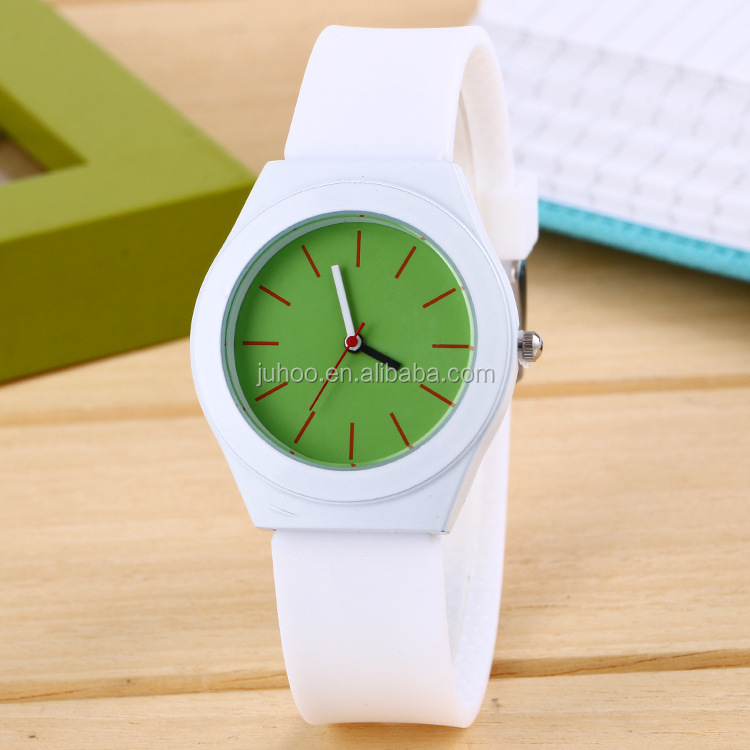 custom wrist watch silicone watch for women and students quartz watch many colors for choose