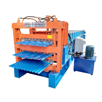 Three layer portable roofing machines for metal roof