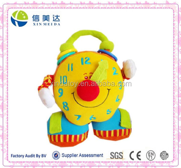 Plush Learning Clock Baby Educational Toys for kids