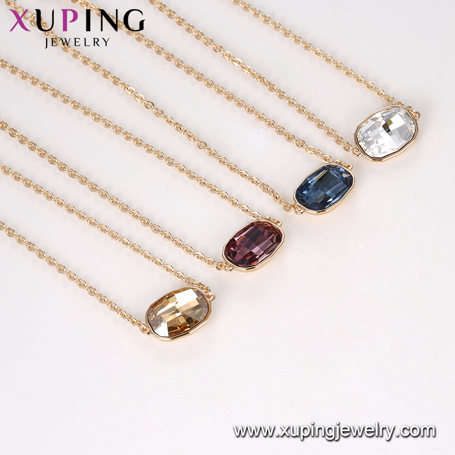 75938-Xuping new style gold plated temperamental single stone gemstone charm bracelet jewelry