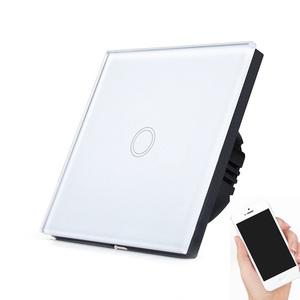 Glass panel 1 gang wifi control led touch light wall mounted switch for daily life