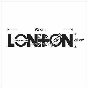 london karakter dekorasi rumah stiker dinding kreatif quotes