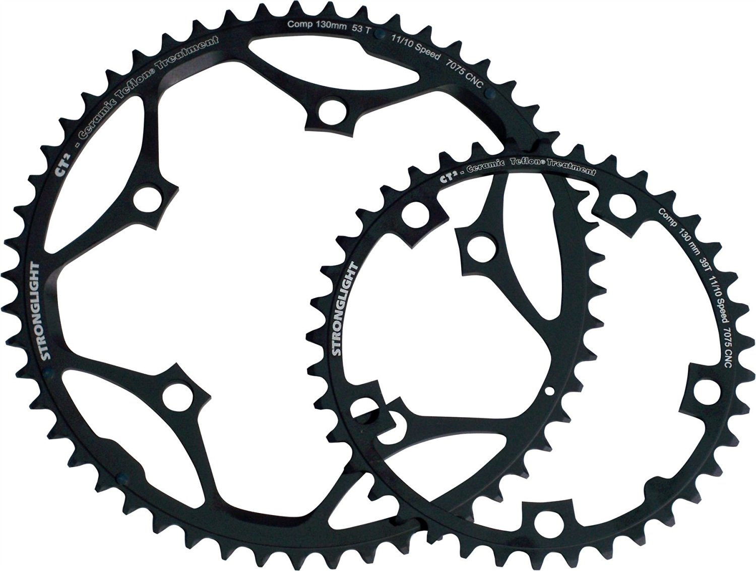 Stronglight CT2 Ceramic Teflon Black 130mm Shimano Standard Chainring - 48T (272607)