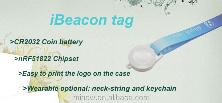 2015 New Arrival Bluetooth 4.0 low Energy iBeacon Tag