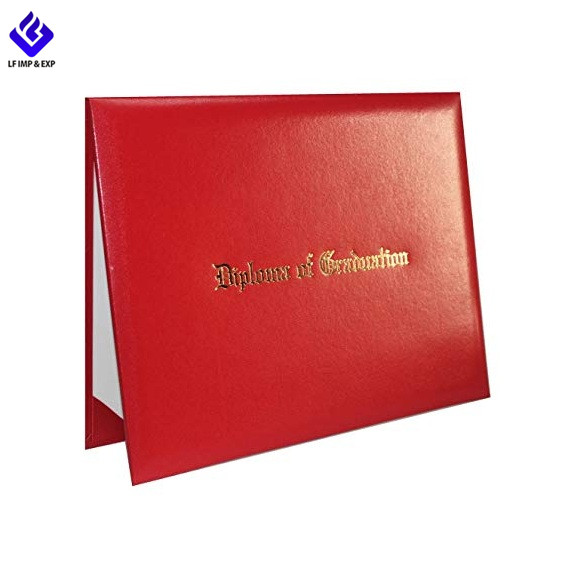 """Holds 8 1//2/"""" x 11/"""" Diploma Large Padded Red Diploma Cover"""