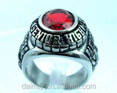 Daimily Wholesale 316L Stainless Steel Custom PANTHERS Ring for Man Military Jewelry