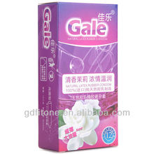 Latex male flavored condom jasmine flavor latex condom picture