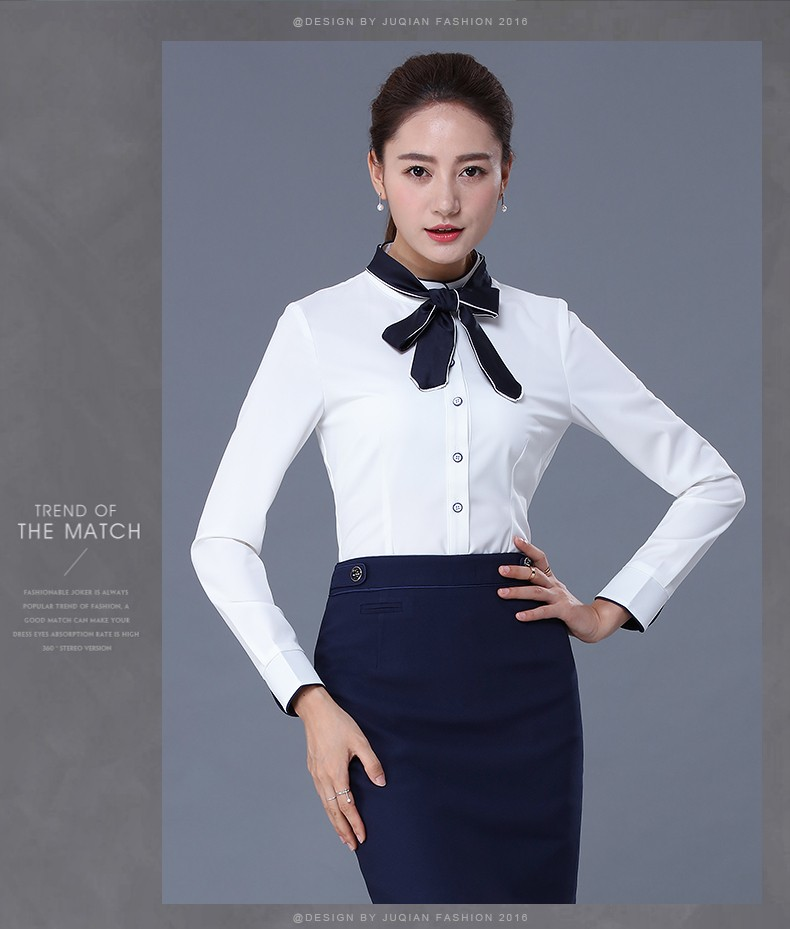 Juqian custom ltimas cl sico simple nueva moda mujeres for Office uniform design 2016