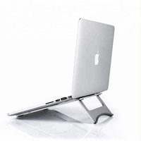 Folding adjustable aluminium laptop stand