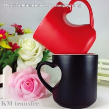 11oz ceramic color changing coffee use magic cup sublimation