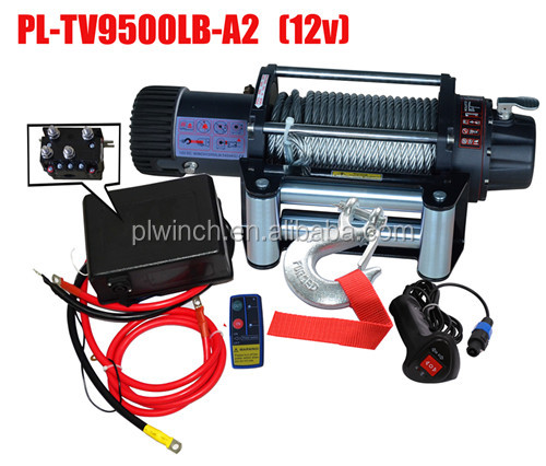 12v 12000lb electric winch off road suv jeep truck recovery winch with wire rope