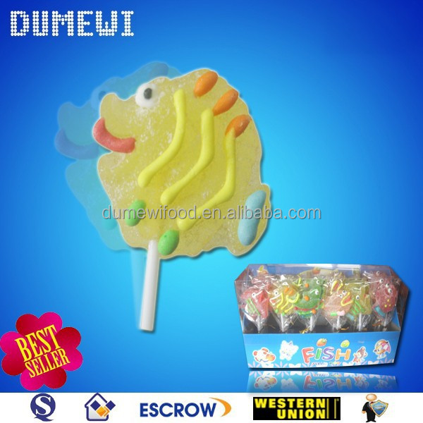18g Halal Sweet Funny Fish Shaped Gummy Bonbon