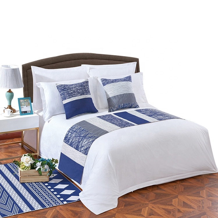 Customized Durable White Hotel Flat Bed Sheets King Size Bedding Linen