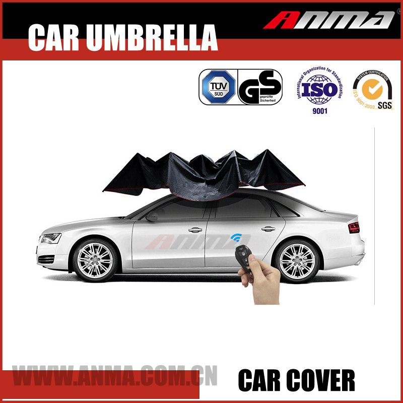 FCC CE certificated automatic universal car SUV pickup truck roof hail protection parking umbrella shade